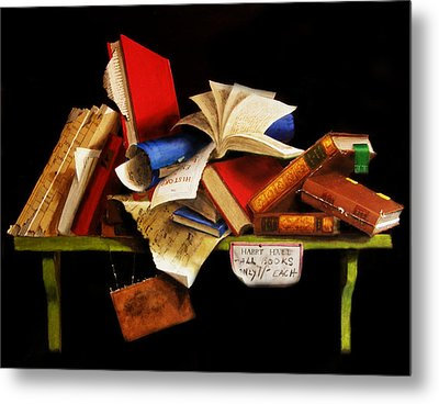 Old Books For Sale Metal Print