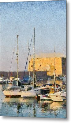 Painting Of Old Fortress Metal Print
