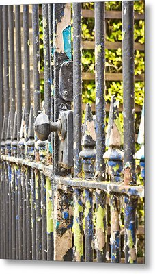 Old Gate Metal Print by Tom Gowanlock