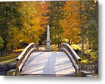 Old North Bridge Concord Metal Print