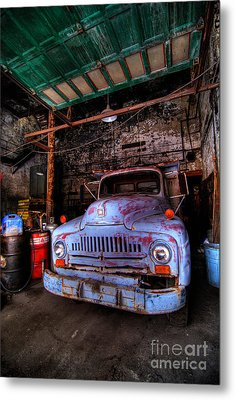 Old Pickup Truck Hdr Metal Print by Amy Cicconi