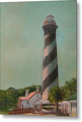 One Day At The St. Augustine Lighthouse Metal Print