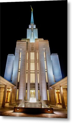 Oquirrh Mountain Temple 1 Metal Print by Chad Dutson