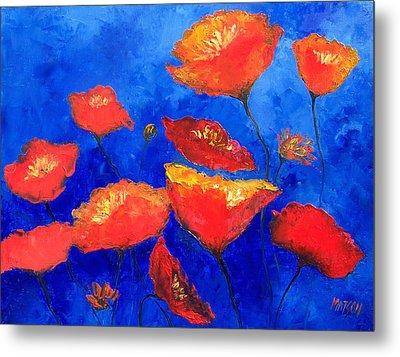 Orange Poppies Metal Print by Jan Matson