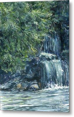 Oregon Waterfall Metal Print