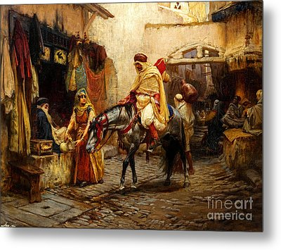 Ottoman Daily Life Scene Metal Print by Celestial Images