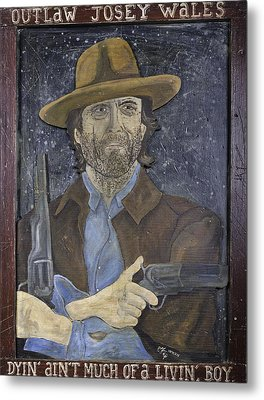 Metal Print featuring the painting Outlaw Josey Wales by Eric Cunningham