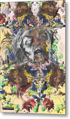 Pain Metal Print by Miguel Rodriguez