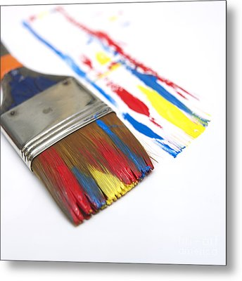 Paintbrush Metal Print by Bernard Jaubert