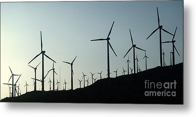 Palm Desert Wind Mills Metal Print by Gregory Dyer