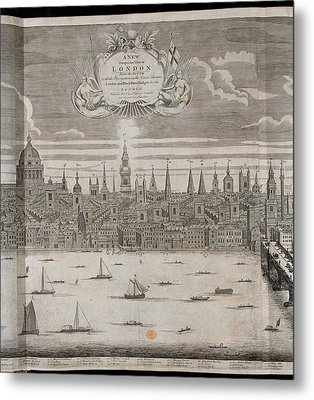 Panorama Of London Metal Print by British Library