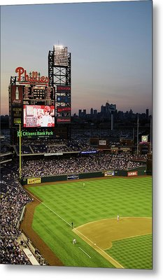 Panoramic View Of 29,183 Baseball Fans Metal Print