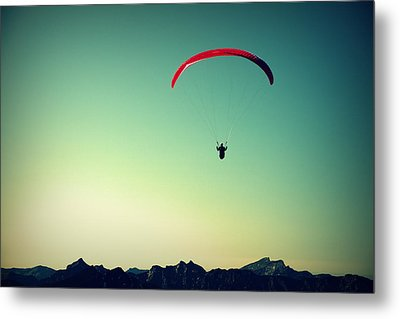 Paraglider Metal Print by Chevy Fleet