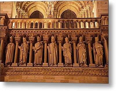 Paris France - Notre Dame De Paris - 01135 Metal Print by DC Photographer
