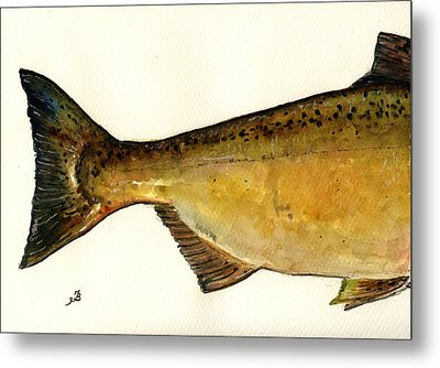 2 Part Chinook King Salmon Metal Print by Juan  Bosco