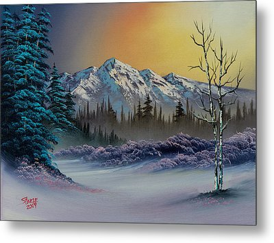 Frosty Enchantment Metal Print by C Steele