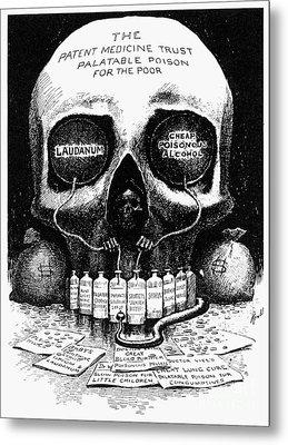 Patent Medicine Cartoon Metal Print by Granger