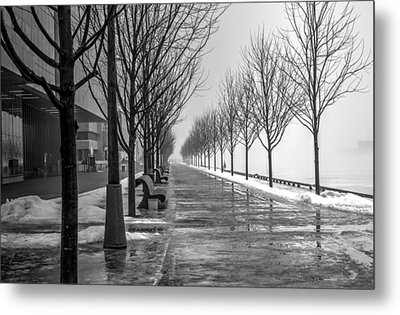 Path Through Fog Metal Print by Nicky Jameson