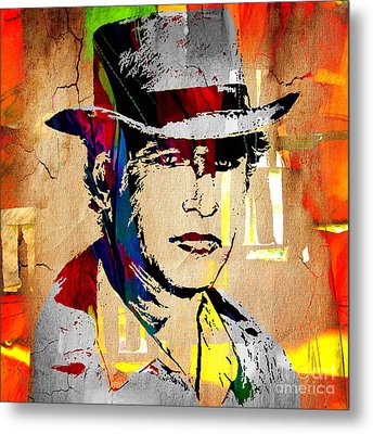 Paul Newman Collection Metal Print by Marvin Blaine