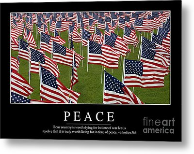 Peace Inspirational Quote Metal Print by Stocktrek Images