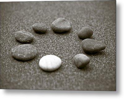 Pebbles Metal Print by Frank Tschakert