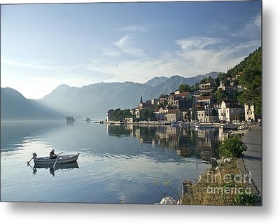 Perast Village In Montenegro Metal Print