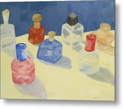 Perfume Bottles Metal Print by Patricia Cleasby