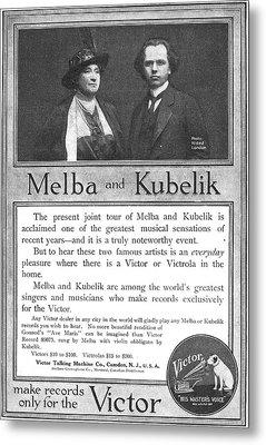 Phonograph Ad, 1914 Metal Print