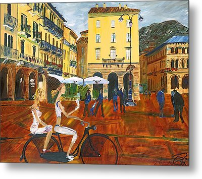 Piazza De Como Metal Print by Gregory Allen Page