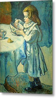 Picasso's Le Gourmet Metal Print