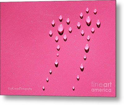 Pink Water Flower Metal Print by Kip Krause