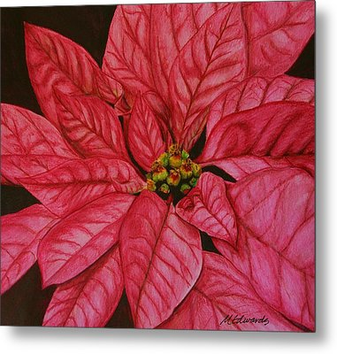 Poinsettia Metal Print by Marna Edwards Flavell