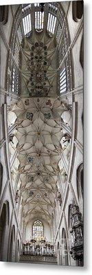pointed vault of Saint Barbara church Metal Print by Michal Boubin