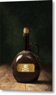 Poison Bottle Metal Print by Amanda Elwell