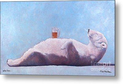 polar beer ... by Will Bullas Metal Print by Will Bullas