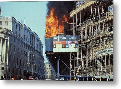 Poll Tax Riots London Metal Print