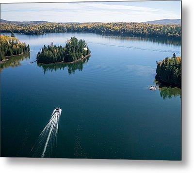 Pontoon Boat On Big Cedar Lake Metal Print