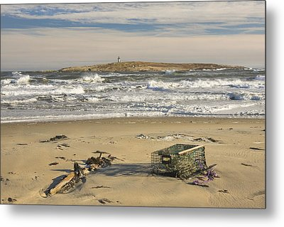 Popham Beach On The Maine Coast Metal Print by Keith Webber Jr