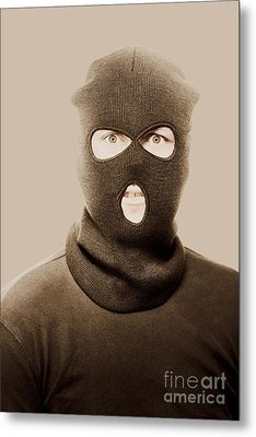 Portrait Of A Vintage Terrorist Metal Print by Jorgo Photography - Wall Art Gallery