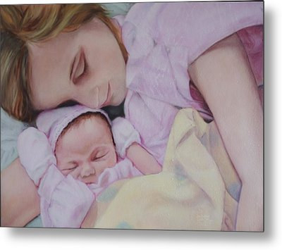 Portrait Of A Young Mother Metal Print