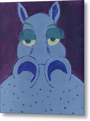 Metal Print featuring the painting Potamus by Yshua The Painter