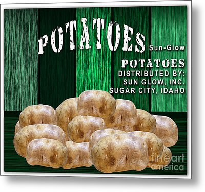 Potato Farm Metal Print by Marvin Blaine