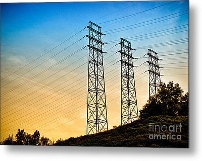 Power Lines Metal Print by Amy Cicconi