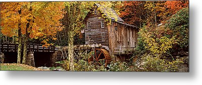 Power Station In A Forest, Glade Creek Metal Print by Panoramic Images
