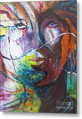 Metal Print featuring the painting Primal by Diana Bursztein
