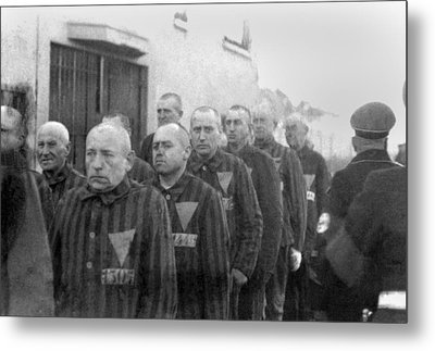 Prisoners In The Concentration Camp Metal Print