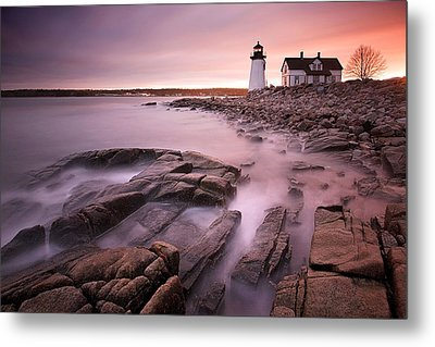 Prospect Harbor Light Metal Print by Patrick Downey