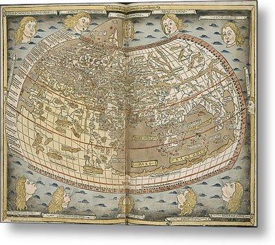 Ptolemy's World Map Metal Print