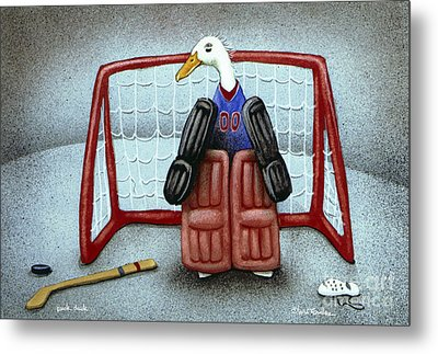 puck duck... by Will Bullas Metal Print by Will Bullas