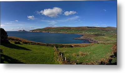 Puffin Island From The Skelligs Ring Metal Print by Panoramic Images